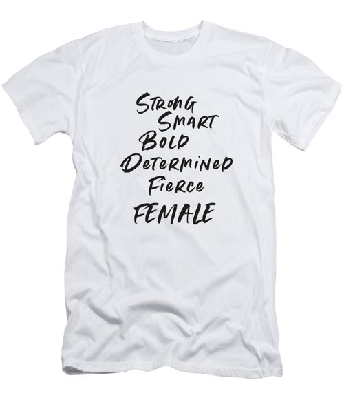 Strong Smart Bold Female- Art By Linda Woods Men's T-Shirt (Athletic Fit)