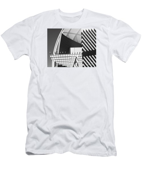 Structure Abstract 3 Men's T-Shirt (Slim Fit) by Cheryl Del Toro