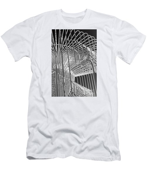 Structure Abstract 4 Men's T-Shirt (Slim Fit) by Cheryl Del Toro