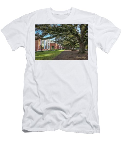 Men's T-Shirt (Slim Fit) featuring the photograph Student Union Oaks by Gregory Daley  PPSA