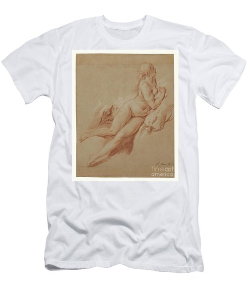 Study Of A Reclining Nude By Francois Boucher Men's T-Shirt (Athletic Fit)