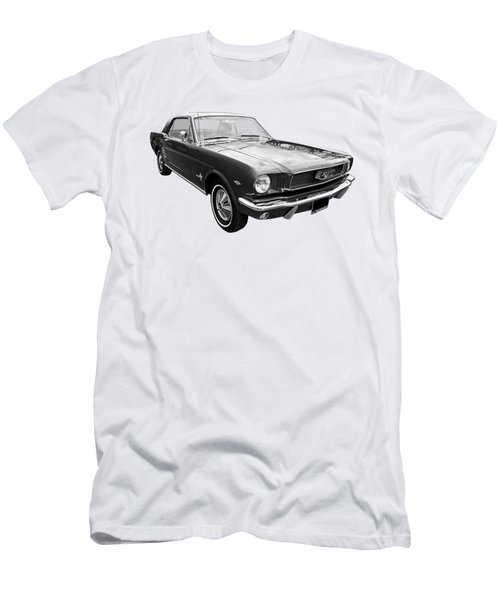 Stunning 1966 Mustang In Black And White Men's T-Shirt (Athletic Fit)