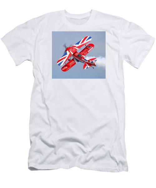 Stunt Plane Men's T-Shirt (Slim Fit) by Roy  McPeak