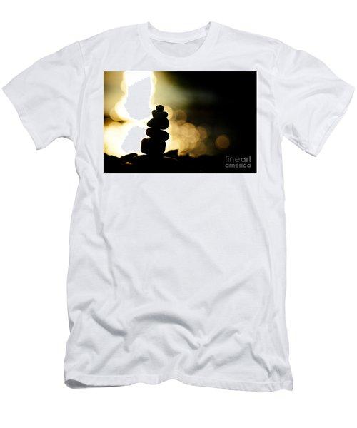 Stupa At Sea Coast Seascape Buddha Men's T-Shirt (Athletic Fit)