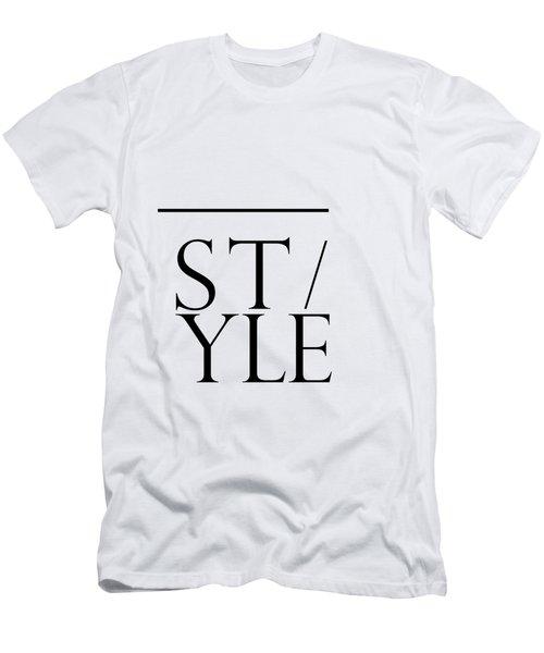 Style - Minimalist Print Men's T-Shirt (Athletic Fit)