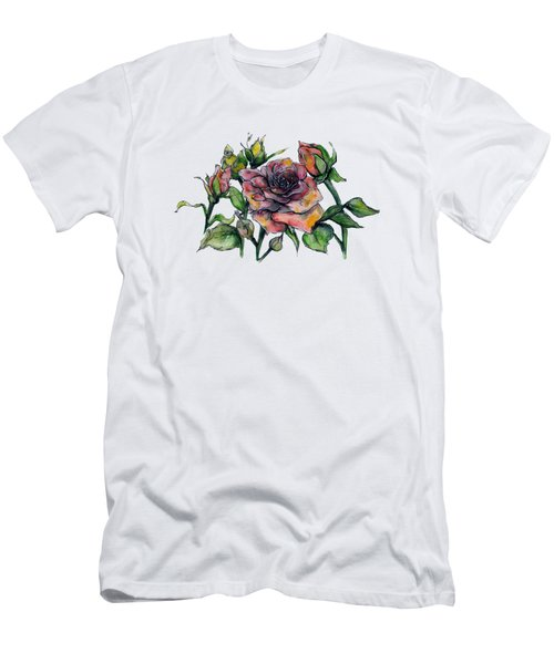 Stylized Roses Men's T-Shirt (Athletic Fit)