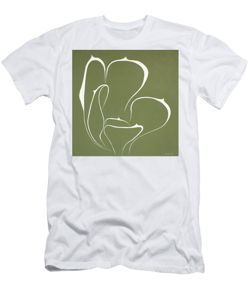 Men's T-Shirt (Slim Fit) featuring the painting Succulent In Green by Ben Gertsberg