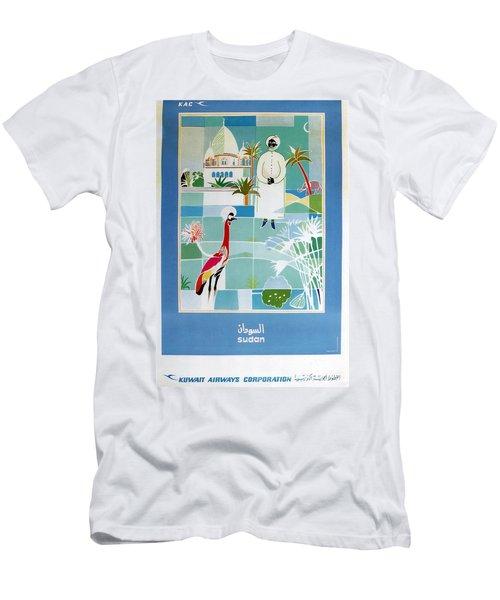 Sudan - Kuwait Airways Corporation - Kuwait - Retro Travel Poster - Vintage Poster Men's T-Shirt (Athletic Fit)