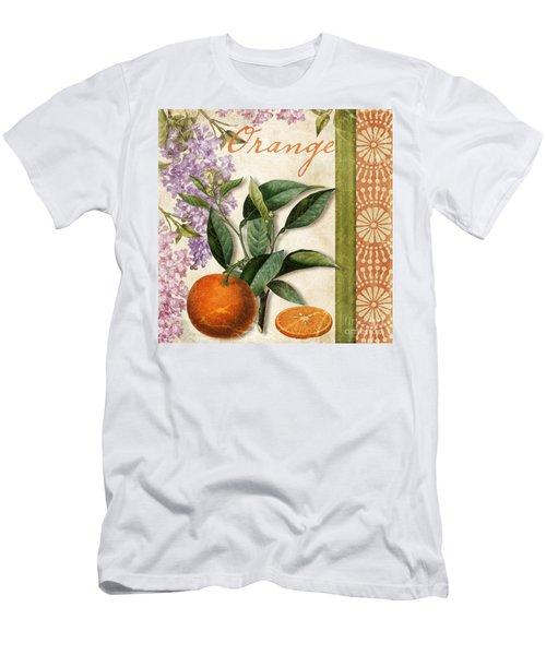 Summer Citrus Orange Men's T-Shirt (Athletic Fit)