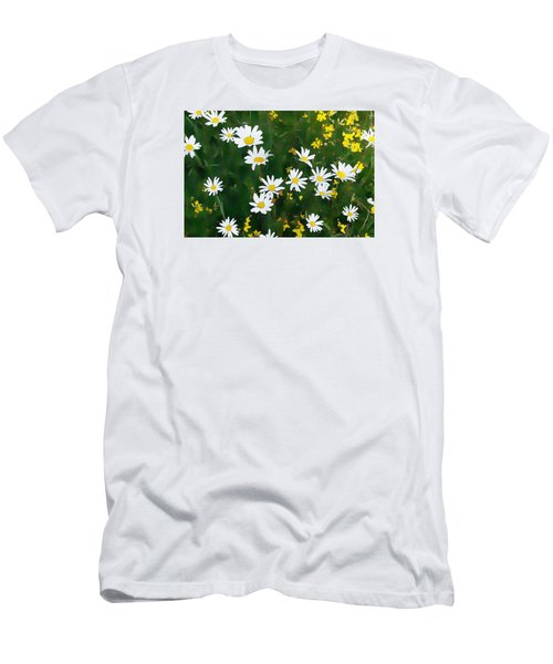 Men's T-Shirt (Athletic Fit) featuring the digital art Summer Daisies by Julian Perry