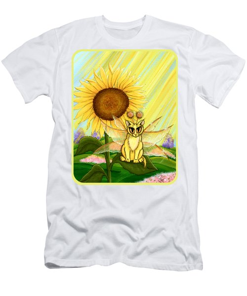 Summer Sunshine Fairy Cat Men's T-Shirt (Slim Fit) by Carrie Hawks