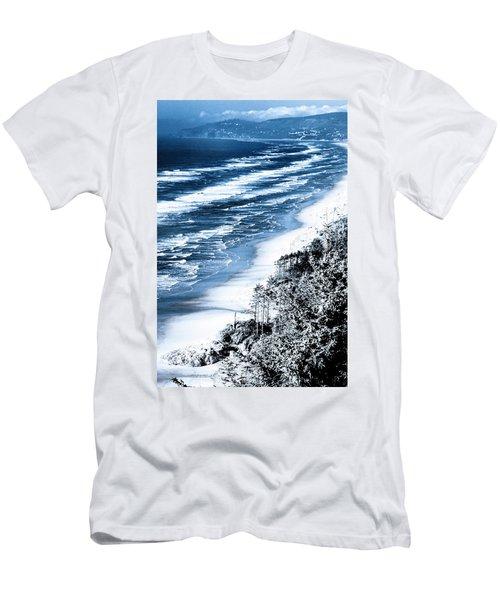 Summer Waves Cape Lookout Oregon Coast Men's T-Shirt (Athletic Fit)