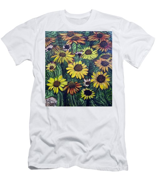 Summertime Flowers Men's T-Shirt (Slim Fit) by Ron Richard Baviello
