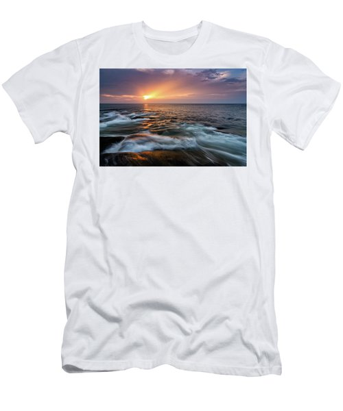 Sun Beams Halibut Pt. Rockport Ma. Men's T-Shirt (Slim Fit) by Michael Hubley