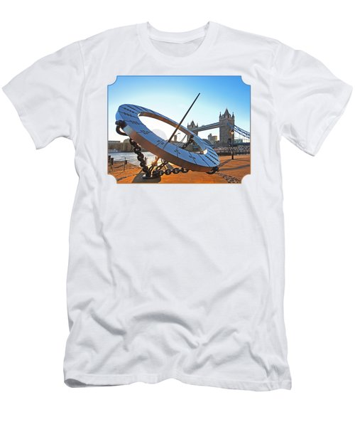 Sun Dial And Tower Bridge London Men's T-Shirt (Athletic Fit)