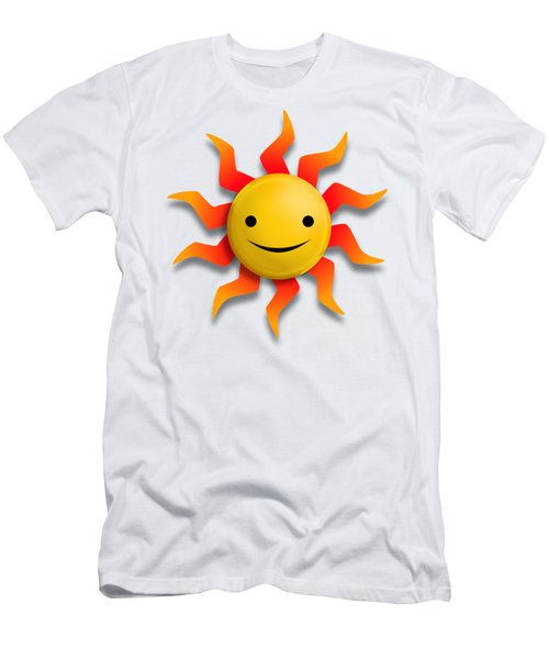Men's T-Shirt (Slim Fit) featuring the digital art Sun Face No Background by John Wills
