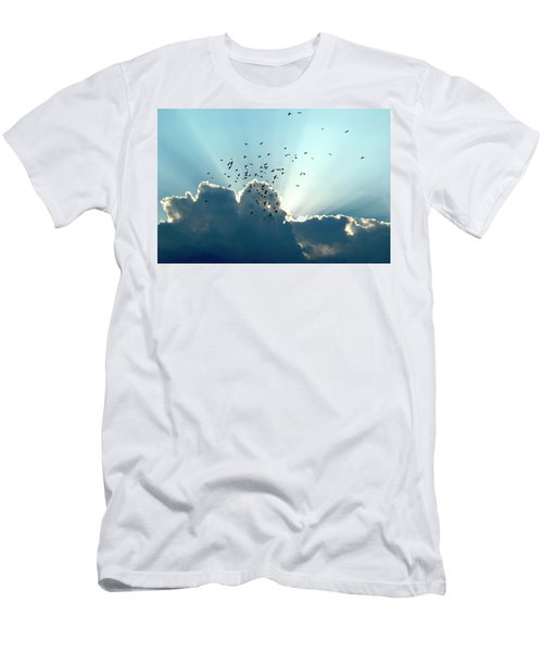 Sun Ray Aerobatics Blue Sky Men's T-Shirt (Athletic Fit)
