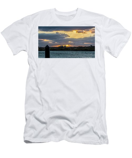 Sun Rays Over The Intracoastal  Men's T-Shirt (Slim Fit) by Nance Larson
