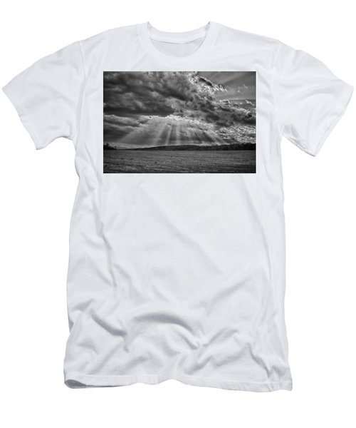 Sun Rays Over Vann's Valley Men's T-Shirt (Athletic Fit)