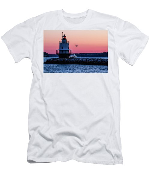 Sun Rise At Spring Point Men's T-Shirt (Athletic Fit)