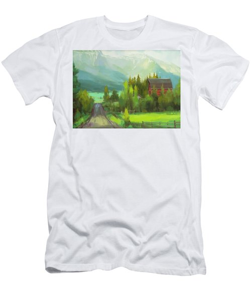 Men's T-Shirt (Athletic Fit) featuring the painting Sunday Drive by Steve Henderson