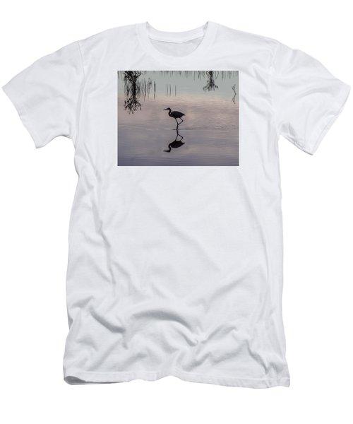 Sundown Heron Silhouette Men's T-Shirt (Athletic Fit)