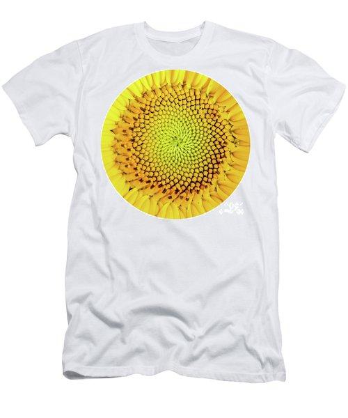 Sunflower Large Round Beach Towel Design Men's T-Shirt (Athletic Fit)