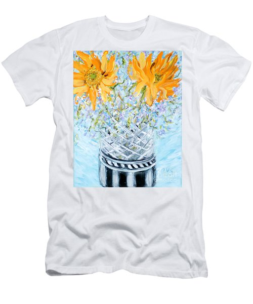Sunflowers In A Vase. Painting Men's T-Shirt (Athletic Fit)