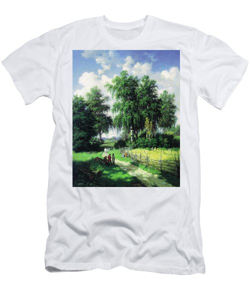 Sunny Afternoon In The Meadows Men's T-Shirt (Athletic Fit)