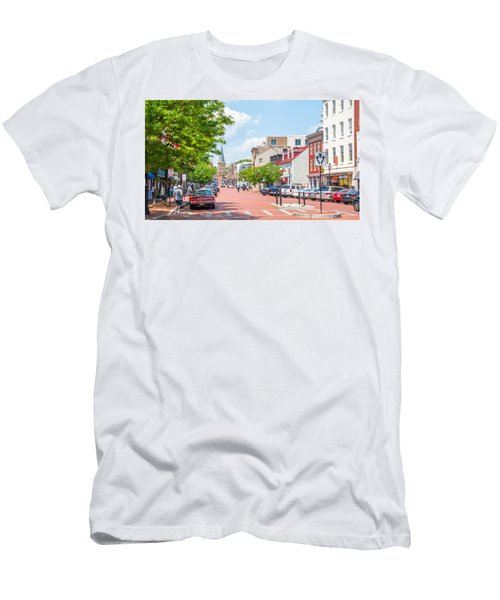 Sunny Day On Main Men's T-Shirt (Athletic Fit)