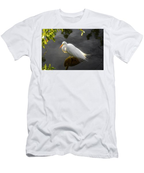Sunny Egret Men's T-Shirt (Athletic Fit)