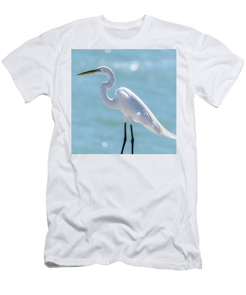 Men's T-Shirt (Athletic Fit) featuring the photograph Sunny Egret by Steven Sparks