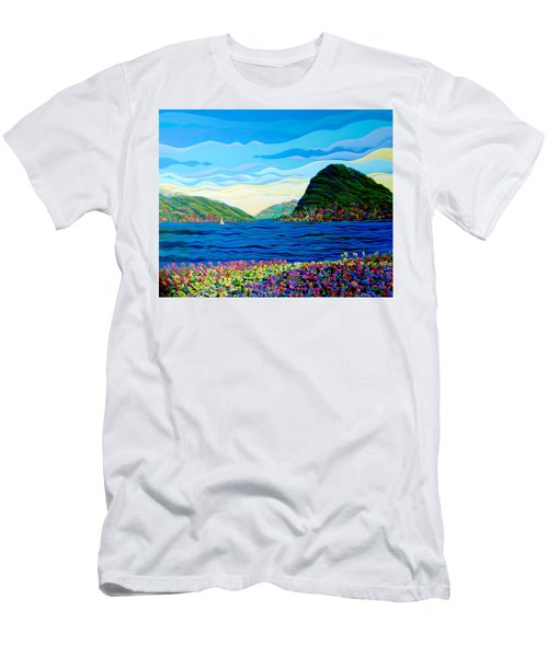 Sunny Swiss-scape Men's T-Shirt (Athletic Fit)