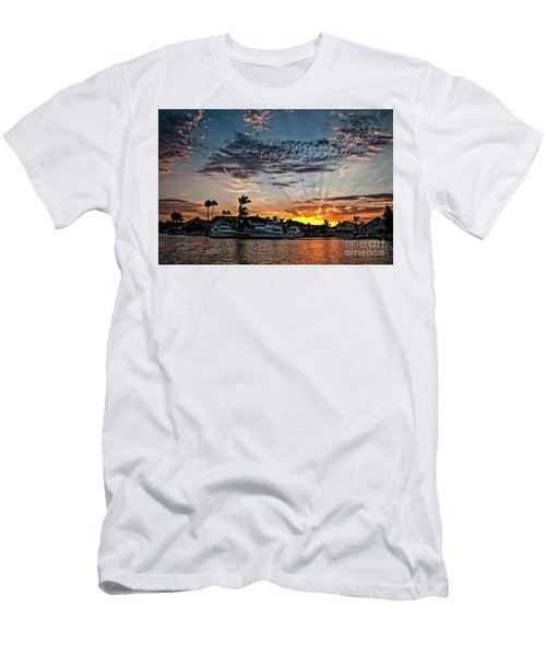 Sunrays Over Huntington Harbour Men's T-Shirt (Athletic Fit)