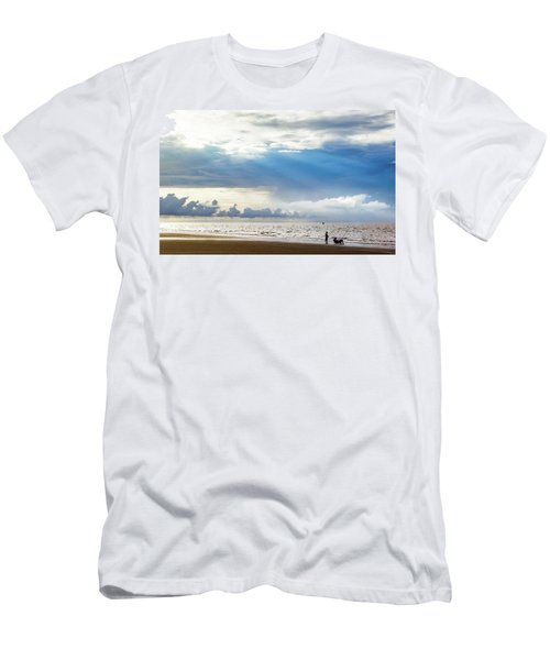 Sunrise Beach Fishing Men's T-Shirt (Athletic Fit)