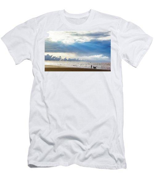 Sunrise Beach Fishing Men's T-Shirt (Athletic Fit)
