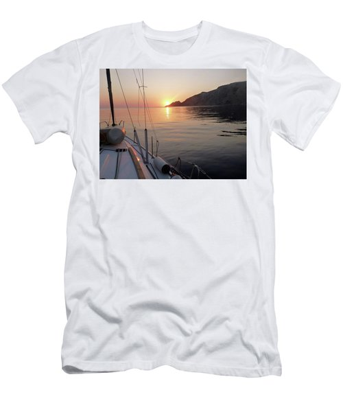 Men's T-Shirt (Slim Fit) featuring the photograph Sunrise On The Aegean by Christin Brodie