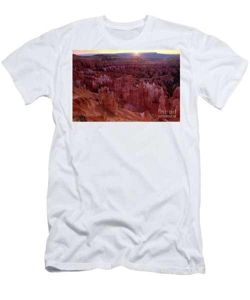 Sunrise Over The Hoodoos Bryce Canyon National Park Men's T-Shirt (Slim Fit) by Dave Welling