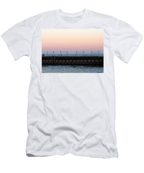 Sunset At Diversey Harbor Men's T-Shirt (Athletic Fit)