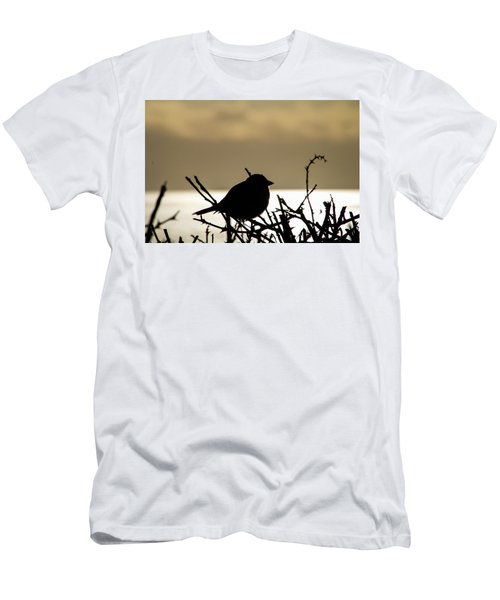 Sunset Bird Silhouette Men's T-Shirt (Athletic Fit)