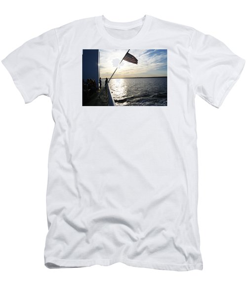 Men's T-Shirt (Slim Fit) featuring the photograph Sunset Cruise by Margie Avellino