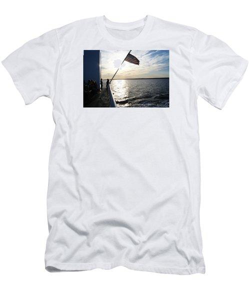 Sunset Cruise Men's T-Shirt (Slim Fit) by Margie Avellino