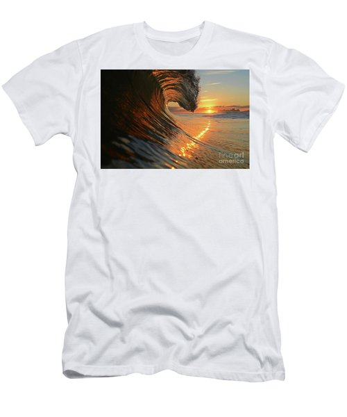 Sunset From Sea Men's T-Shirt (Athletic Fit)
