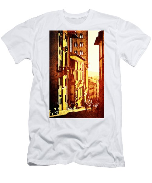 Sunset In Arezzo Men's T-Shirt (Slim Fit) by Andrea Barbieri