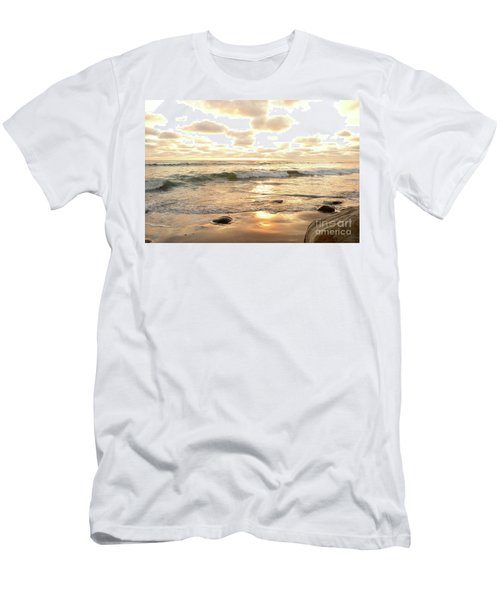 Sunset In Golden Tones Torrey Pines Natural Preserves #2 Men's T-Shirt (Slim Fit) by Heather Kirk