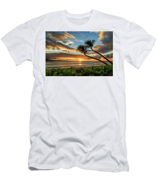 Sunset In Kaanapali Men's T-Shirt (Slim Fit) by James Eddy