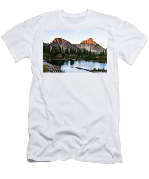 Sunset In Lila Lakes And High Box Mountain Men's T-Shirt (Athletic Fit)