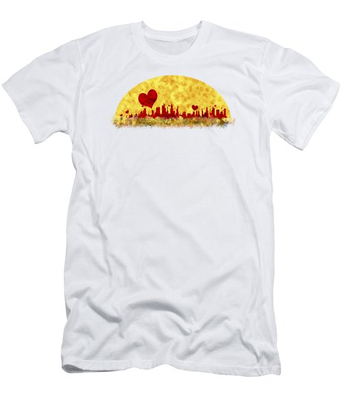 Sunset In The City Of Love Men's T-Shirt (Slim Fit) by Anton Kalinichev