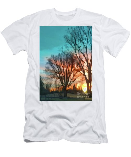 Sunset In The Country Men's T-Shirt (Athletic Fit)