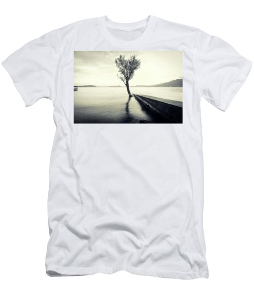 Sunset Landscape With A Tree In The Background Immersed In The L Men's T-Shirt (Athletic Fit)